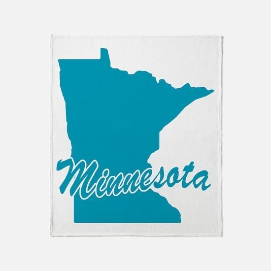 State Minnesota Throw Blanket