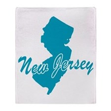 State New Jersey Throw Blanket