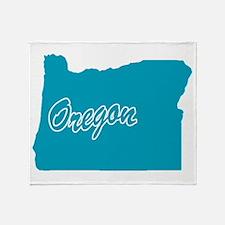 State Oregon Throw Blanket