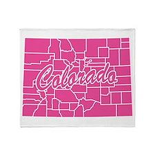 Pink Colorado Throw Blanket