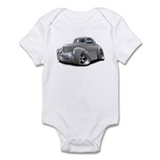 1941 Willys Silver Car Infant Bodysuit
