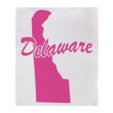 Pink Delaware Throw Blanket