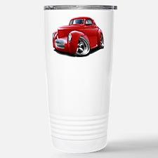 1941 Willys Red Car Travel Mug