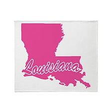 Pink Louisiana Throw Blanket