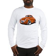 1941 Willys Orange Car Long Sleeve T-Shirt