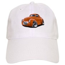 1941 Willys Orange Car Baseball Cap