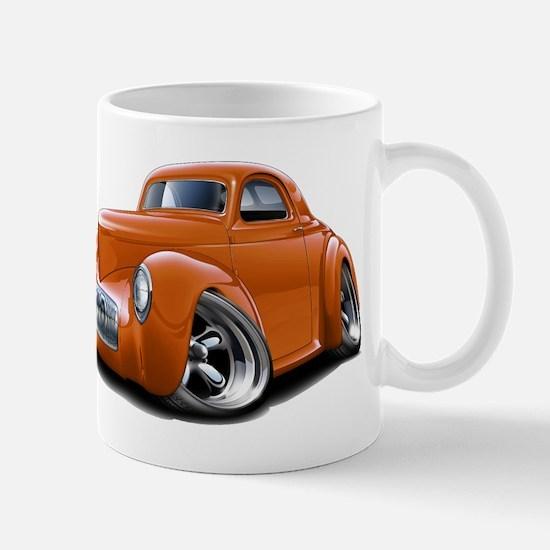 1941 Willys Orange Car Mug