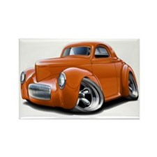 1941 Willys Orange Car Rectangle Magnet