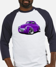 1941 Willys Purple Car Baseball Jersey
