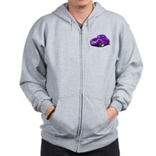 1941 Willys Purple Car Zip Hoodie