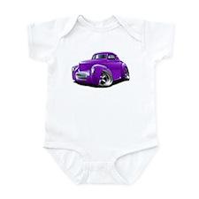 1941 Willys Purple Car Infant Bodysuit