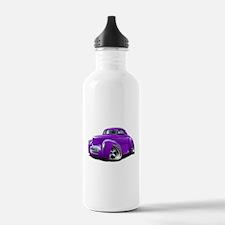 1941 Willys Purple Car Water Bottle