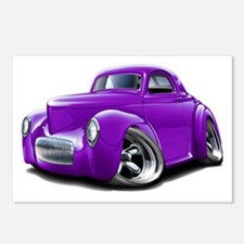 1941 Willys Purple Car Postcards (Package of 8)