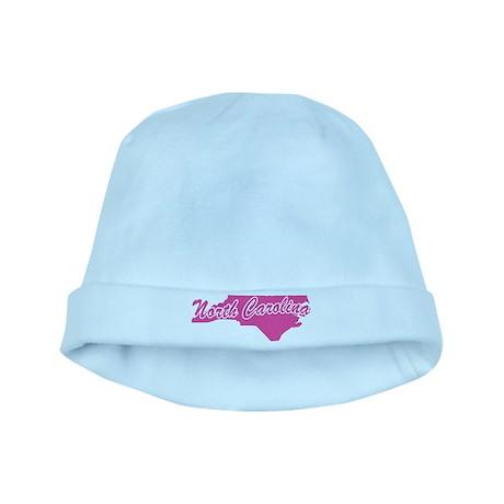 Pink North Carolina baby hat