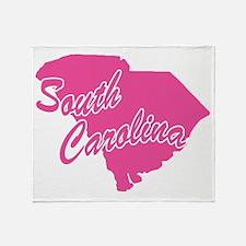 Pink South Carolina Throw Blanket