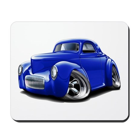 1941 Willys Blue Car Mousepad