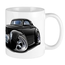 1941 Willys Black Car Mug