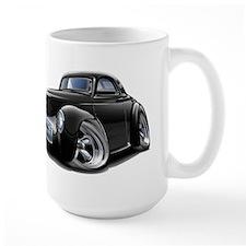 1941 Willys Black Car Mug