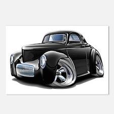 1941 Willys Black Car Postcards (Package of 8)