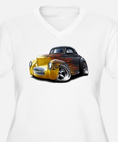 1941 Willys Black Flames T-Shirt