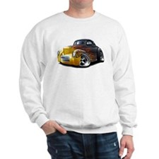 1941 Willys Black Flames Sweatshirt