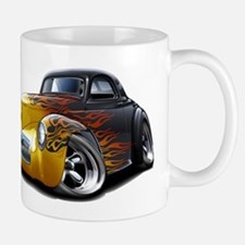 1941 Willys Black Flames Mug
