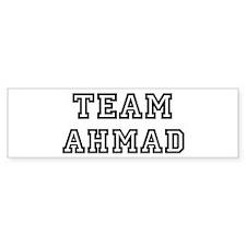 Team Ahmad Bumper Bumper Sticker