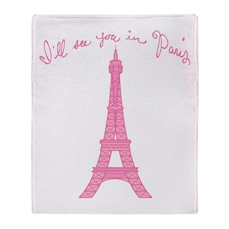 I'll See You in Paris Throw Blanket