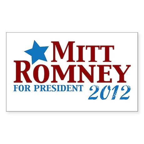 Mitt Romney 2012 Sticker (Rectangle)