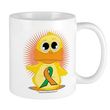 Orange & Green Ribbon Duck Mug