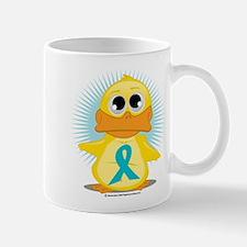 Teal Ribbon Duck Mug
