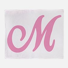 M Initial Throw Blanket