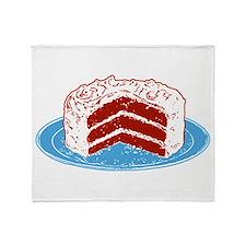 Red Velvet Cake Graphic Throw Blanket