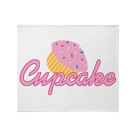 Pink Cupcake Throw Blanket