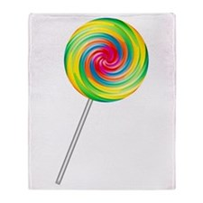 Swirly Lollipop Throw Blanket