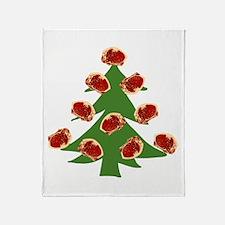 Meat Christmas Tree Throw Blanket
