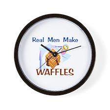 Real Men Make Waffles Gifts Wall Clock