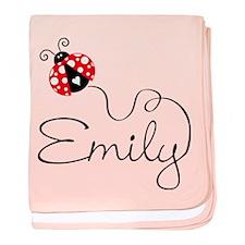 Ladybug Emily baby blanket