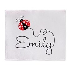 Ladybug Emily Throw Blanket