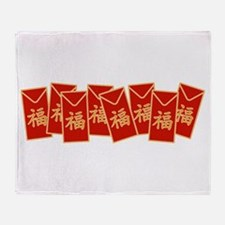 Red Envelopes Throw Blanket