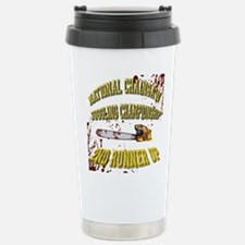Chainsaw Juggling Stainless Steel Travel Mug