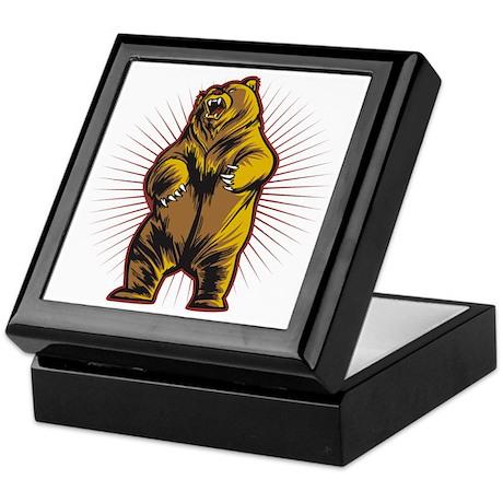 Angry Bear Keepsake Box