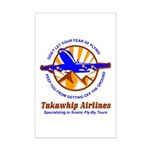 TakaWhip Airlines Mini Poster Print
