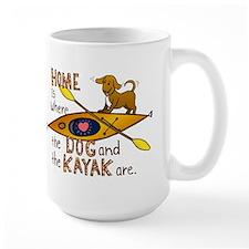 Home is Where the Dog and the Kayak Are Mug