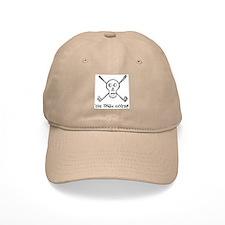 The Jolly Golfer Skeleton and text Baseball Cap, skull an