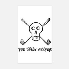 The Jolly Golfer and text Rectangle Decal
