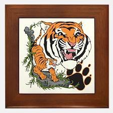Tigers Framed Tile