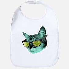 Cute Cat sunglasses Bib