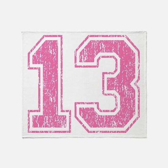 Retro 13 Number Throw Blanket