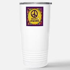 Peace, Love, & Social Work Travel Mug